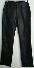 HARLEY DAVIDSON WOMEN'S LEATHER PANTS-5 POCKETS-SIZE 29-BLACK-NWOT-FREE SHIPPING