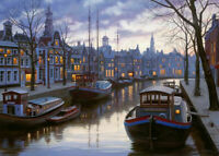 """NEW! Ravensburger """"Life on the Canal"""" 1000 Piece Jigsaw Puzzle"""