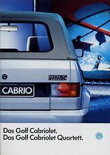 2164VO VW Golf Cabriolet + Quartett Prospekt 1992 8/92 brochure catalog Katalog