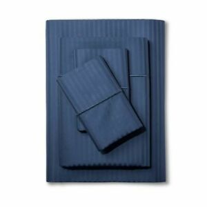New California King 500 Thread Count Damask Sheet Set Rig Blue - FieldcrestÂ