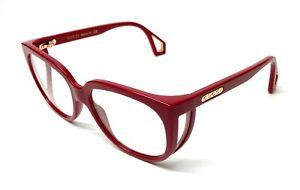 Gucci GG0470O 004 Burgundy Women's Authentic Eyeglasses Frame 56 mm