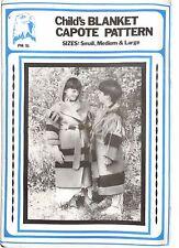Eagle View - Re-enactment Child's Blanket Capote Coat Pattern - Sizes S-M-L