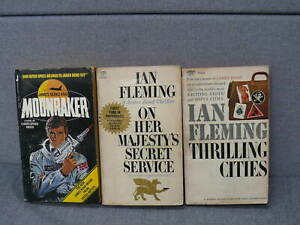 Ian Fleming 2 Books & Moonraker by Christopher Wood  Paper Back