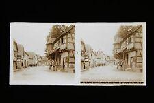 Scherwiller Alsace France Plaque stéréo pos. vers 1920