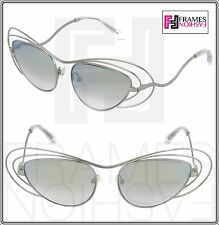 1d63ddf4e4080 LINDA FARROW ERDEM Cat Eye Wire Silver Purple Green Mirrored EDM2 Sunglasses
