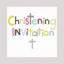 Christening Invitation Cards - Includes Envelopes - Pk Of 6 - Simon Elvin DP221R