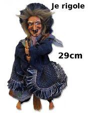 sorciere,Halloween ,29cm,objet de légende, poupée, witch,elle rigole  G26/28