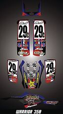 Warrior 350 Yamaha  ATV SEMI CUSTOM GRAPHICS KIT Star