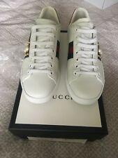 c2c09fb8c5ad0 Ladies Gucci Ace studded leather sneakers trainers Uk Size 4