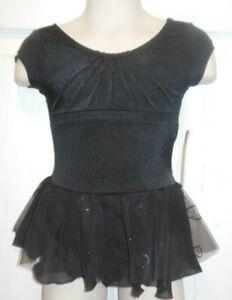 Bloch Camisole Heart Skirt Dance Dress Black Girls sze Ballet Class CL7030 xsCh