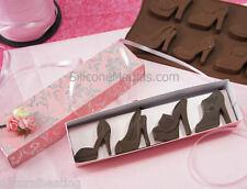 8 high heeled shoes Zapatos Bakeware del silicón Molde Molde del chocolate Cookie Candy