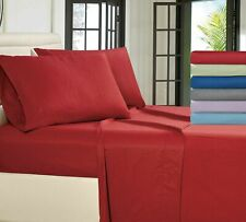 Egyptian Comfort 4 Piece Bed Sheets 1800 Count Microfiber Deep Pocket Sheet Set