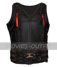 Batman The Dark Knight Rises Tom Hardy Black Bane Leather Costume Biker Vest