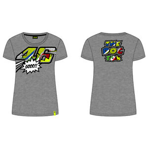 Ladies MONSTER Valentino Rossi POP ART Grey T-Shirt Official VR46 Merchandise