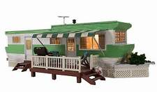 WOODLAND SCENICS BUILT & READY GRILLIN' & CHILLIN' TRAILER N SCALE STRUCTURE