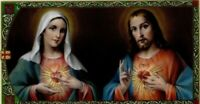 Sacred Heart of Jesus & Immaculate Heart Mary Catholic Laminated Prayer Card