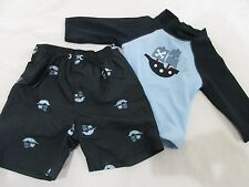 NWT Boys Gymboree Pirate Swimsuit Rashguard & Swimtrunks Size 3-6m