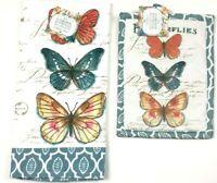 KayDee Designs Kitchen Terry Dish Towel and Potholder Set  Cotton - Butterflies