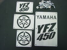 CUSTOM YAMAHA YFZ450 YFZ 450 FENDER WARNING TAGS BADGES PLATES NEW!