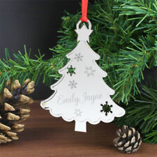 Personalised Any Name Metal Christmas Xmas Tree Decoration Bauble Gift Present