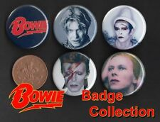 David Bowie 5 x 31 mm Button Badges - Aladdin Sane - Set 3