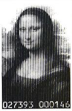 Mr Brainwash Mona Lisa Lines promo print Leonardo Da Vinci Banksy Fairey pop art