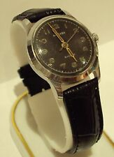 "VINTAGE EARLY RUSSIAN USSR MEN'S MILITARY STYLE ""MOSCOW"" WATCH/BLACK DIAL # 1"