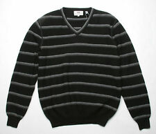 Hickey Freeman Sterling Collection Stripe Sweater (M) Black 5S243248S