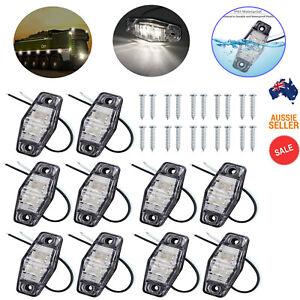 10PCS LED Clearance Side Marker Light 12v/24v For Truck Trailer Tail Van Lamp AU