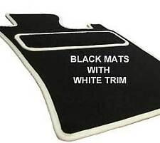 FIAT PUNTO EVO ABARTH (2010 in) 2 Clip di Fissaggio per auto Tappetini su misura bianco