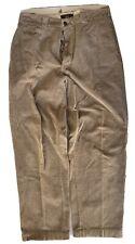 De Colección USA Ralph Lauren Double RRL Bronceado Pantalones De Pana Pantalones Vaqueros 32x30 cierre de botones