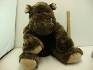 "Animal Alley 14"" Hippo Brown 2009 Plush Hippopotamus"