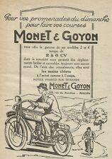 W0721 Monet & Goyon - Pubblicità 1929 - Advertising