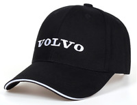 Volvo Baseball Cap Embroidered Black Logo Adjustable Caps Strapback