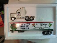 Ertl 1/64 diecast international semi tractor trailer. BUCKEYE HORSE FEEDS (15H)