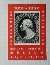 Centennial Exhibition Natl Philatelic Museum 1951 Philatelic Souvenir Ad Label