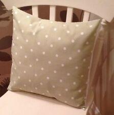 "Clarke and Clarke Green Spot 16"" Cushion Cover Shabby Chic"