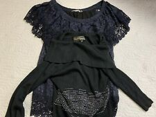 Christine Phillipe, Soft Surroundings Lace, Beaded Tops Women Size S, Lot Of 2