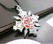 1X Vampire Knight Steel Kuran Yuuki Pendant Necklace Anime Cosplay Silver Color