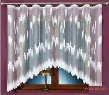 BEAU NOUVEAU BLANC prêt à l'em Ploi jacquard Rideau Filet MODERNE ART 330 x