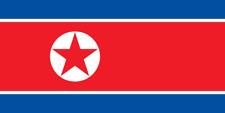 Drapeau Coree du Nord  / North Korea  / 145 cm X 90 cm