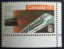 Canada 1986 MNH Expo 86 Vancouver $0.68 Transportation - Corner Stamp