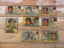 Vintage Baseball Cards Topps Newhouser Rice Hegan Groat Kiely Jolly Lot-8 1950s