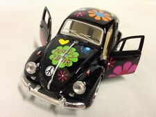 1967 Classic Volkswagen VW Beetle 1:32 Diecast Pull Back To Go Toys Black Print