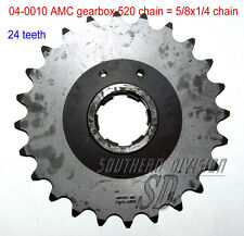 AMC GEARBOX SPROCKET 24 teeth Norton PIGNONE 520 CHAIN 5/8x1/4 DOMINATOR es2