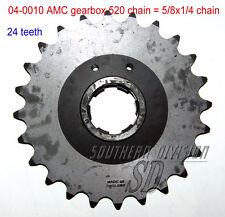 AMC gearbox sprocket 24 teeth Norton Ritzel 520 chain 5/8x1/4 Dominator ES2