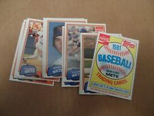 1981 Topps Baseball Coca Cola Mets Team Set Complete
