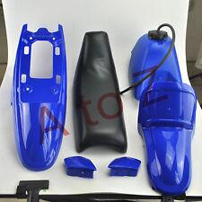 BLUE PLASTIC SEAT GAS TANK KIT FITS YAMAHA PW50 PW 50