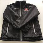 Crusaders FC Belfast Black Zip Away Hood Windbreaker Macron Jacket Men's Large