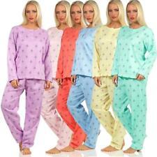 Damen Thermo  Pyjama lang zweiteiliger Schlafanzug S M L XL XXL